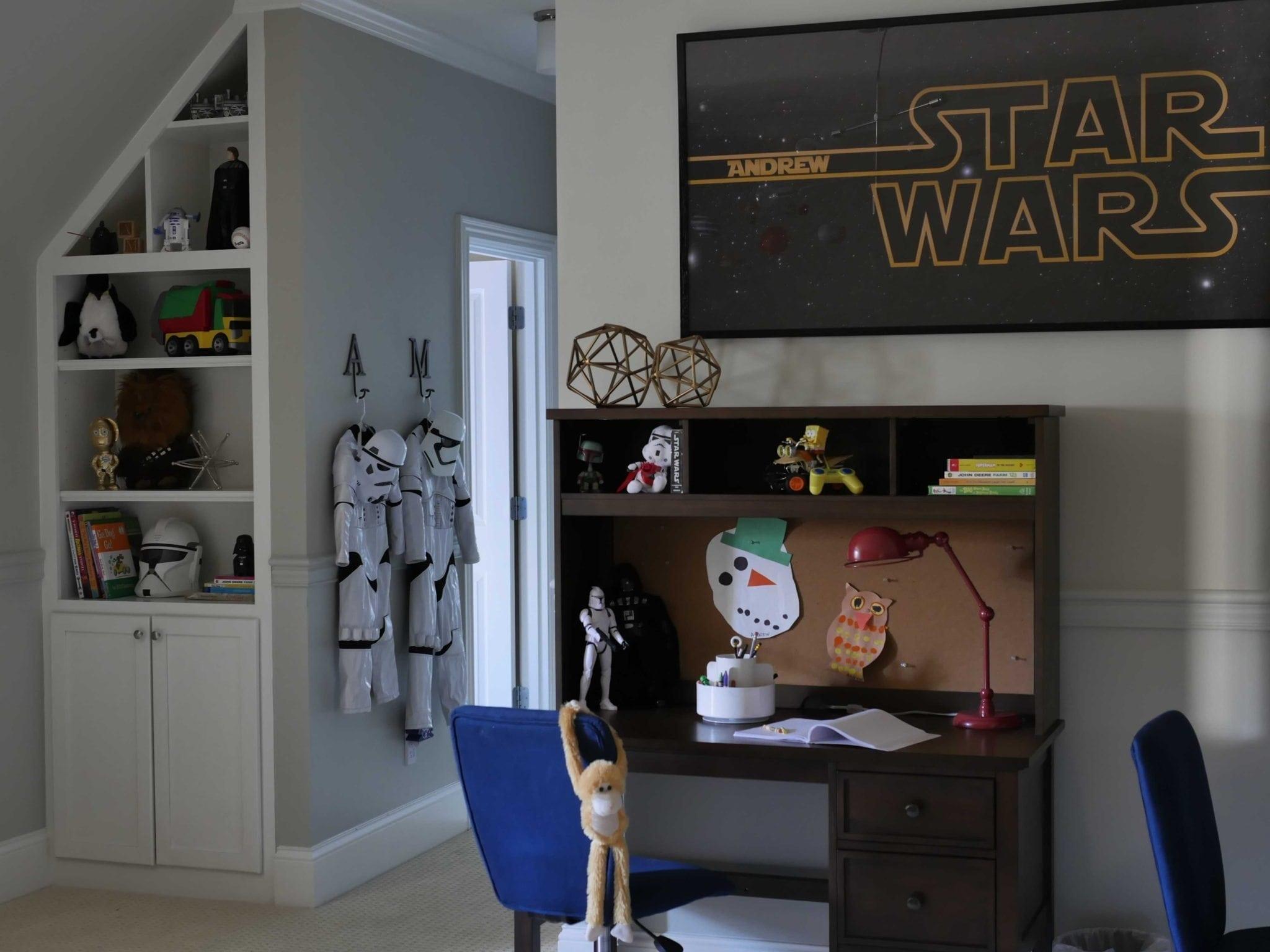 Star wars big boy bedroom bluegraygal for Boys star wars bedroom ideas