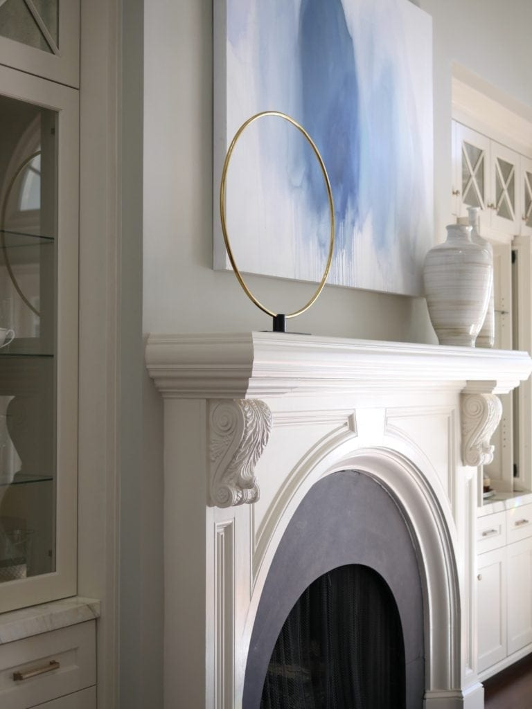 Dining Room Fireplace Mantel Decor