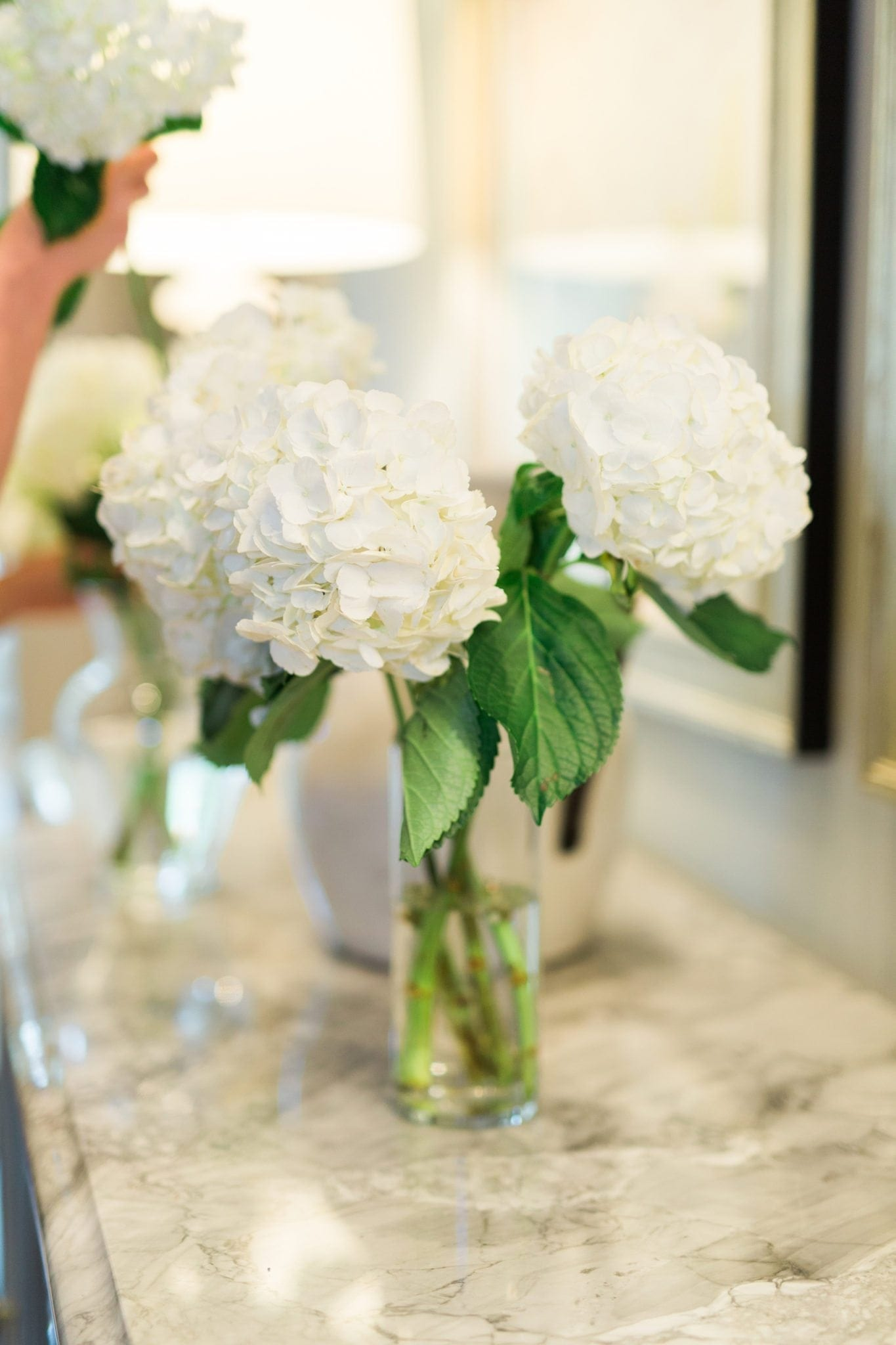 Atlanta home blogger sharing 3 ways to keep flower arrangements alive longer. Learn to keep flowers looking pretty longer after buying them or picking them from hydrangea bush.
