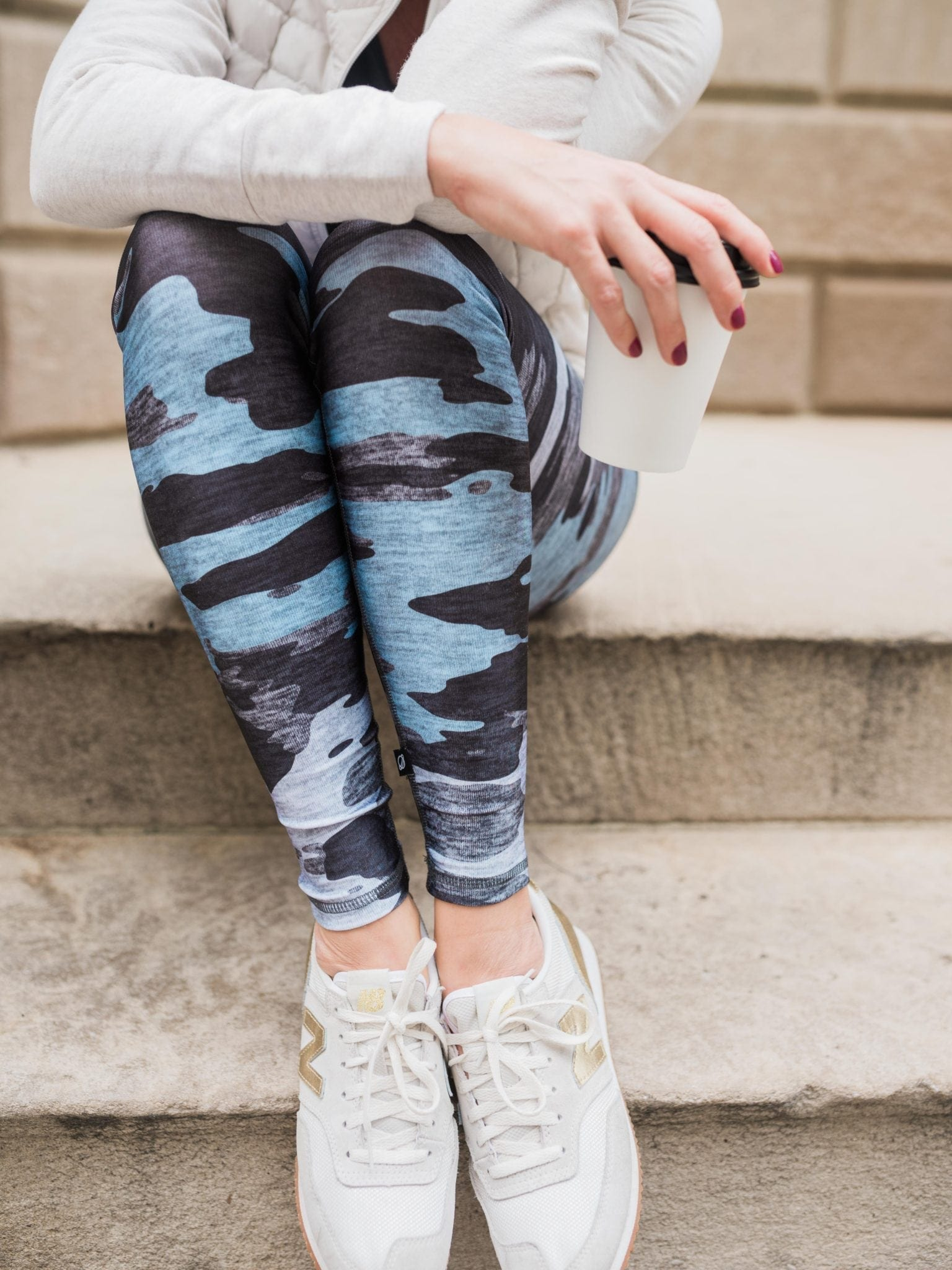 Camo Leggings by Terez. Fun print leggings for everyday use.