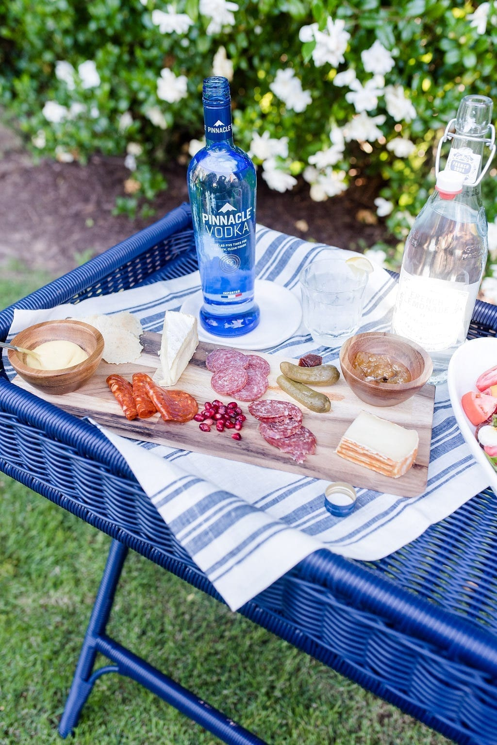 Pinnacle Vodka and French inspired food for French style entertaining.
