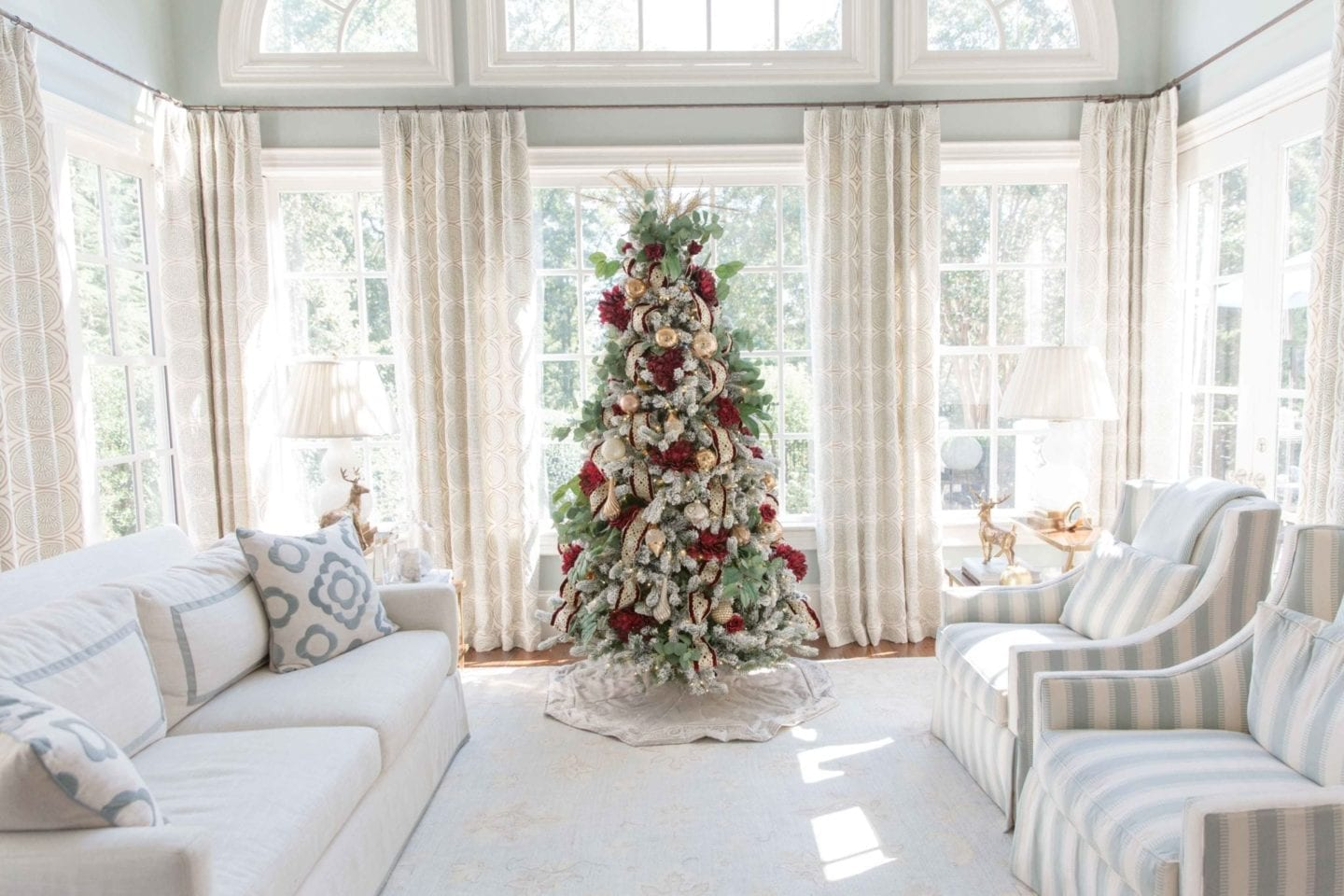 How To Decorate A Crimson Red And Gold Christmas Tree Bluegraygal