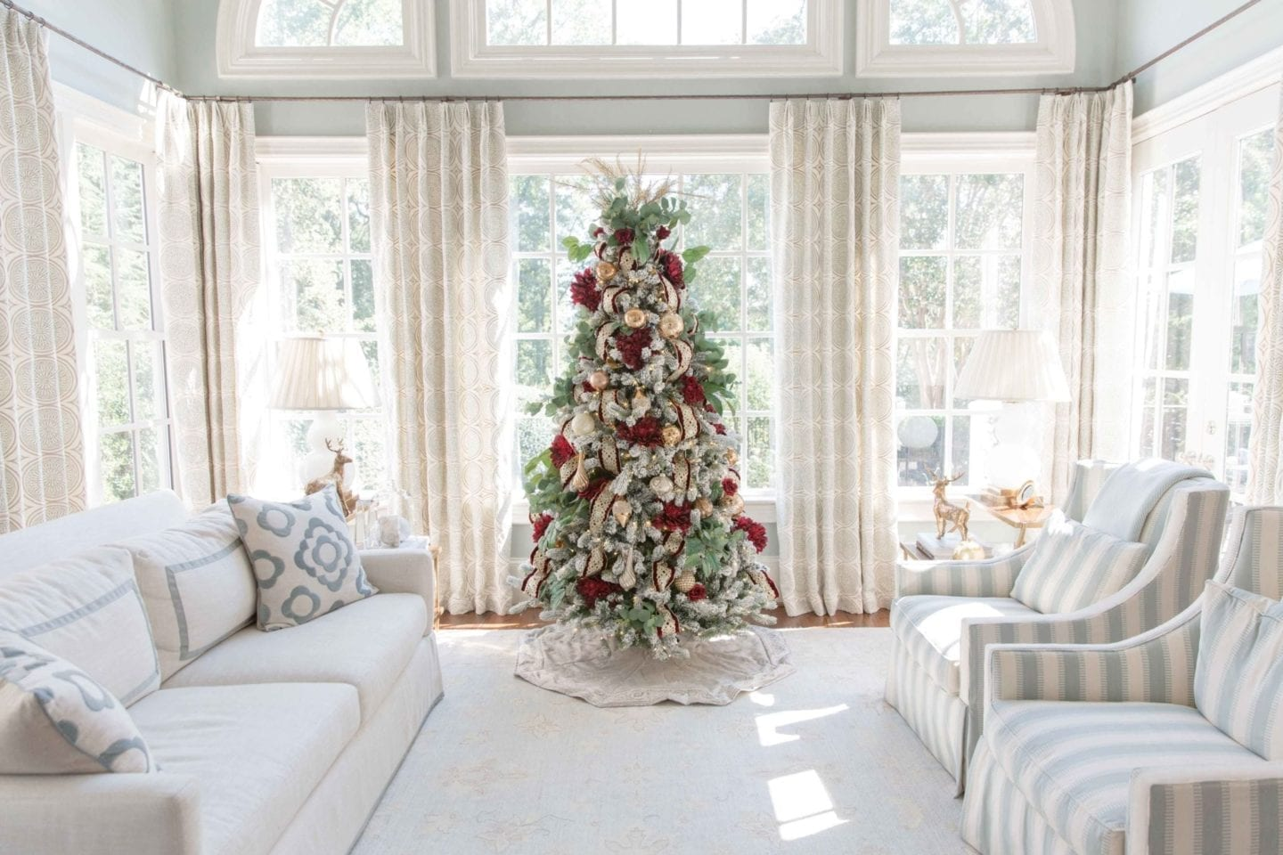 How To Decorate A Crimson Red And Gold Christmas Tree