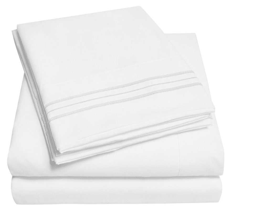 Affordable White Hotel Sheets from Wal-Mart