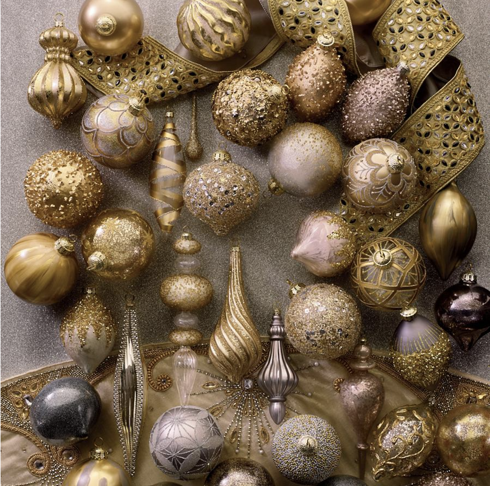 Gold Ornament Collection
